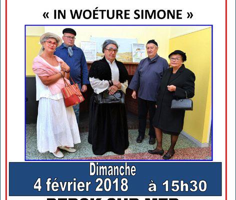 """""""IN WOETURE SIMONE""""...C'EST AU FAMILIA THEÂTRE...LE DIMANCHE 4 FEVRIER..."""