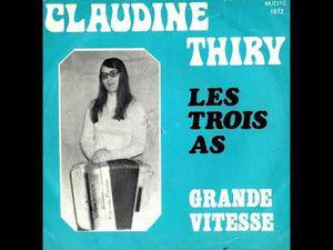 """claudine Thiry, une jeune accordéoniste belge qui nous légua ce 45 tours """"les trois as"""" et """"grande vitesse"""""""