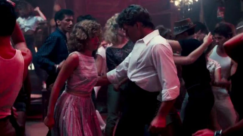 Johnny invites Frances for a dance. She's extremely bad at it.