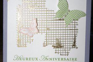 Carte Papillon et grillage