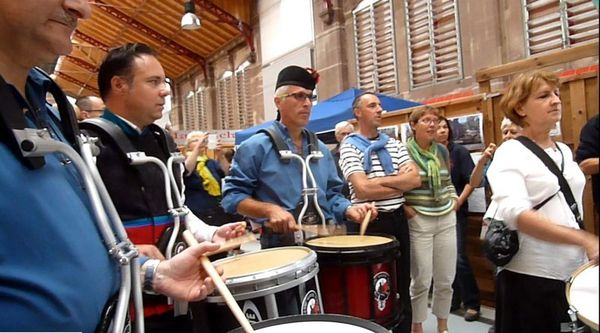 les tambours des Celtic Ried's pipers