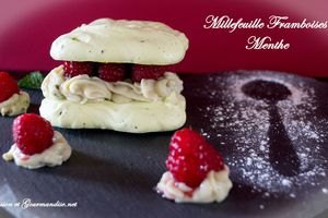 Millefeuille Framboises Menthe