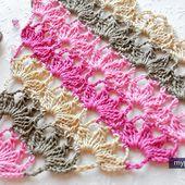 Patrons & modèles gratuits des châles au crochet - Le blog de mes loisirs