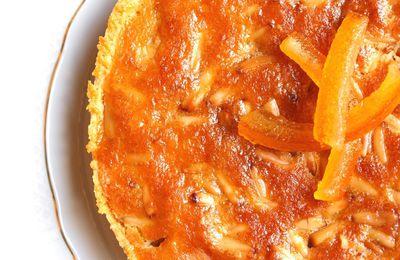 Tarte aux pignons et aux écorces d'orange confite