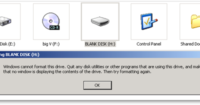 Windows Cannot Format This Drive. Quit Any Disk Utilities Or Other Programs That Are Using This Drive