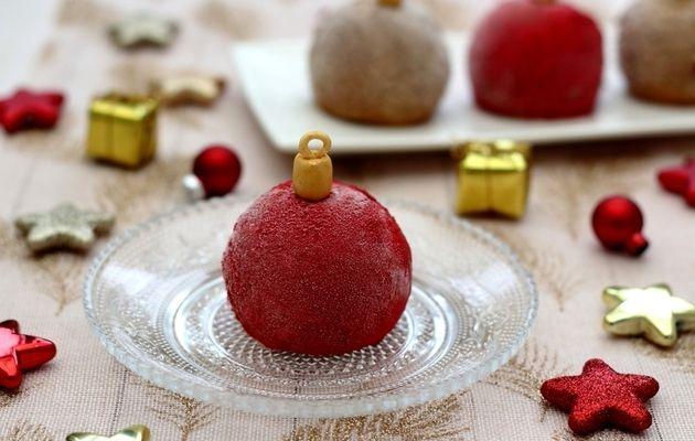Boule de Noël à la mousse au chocolat
