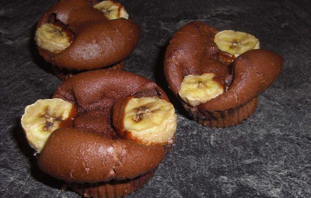 Muffins bossus banane chocolat
