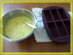 Cake curry et crevettes