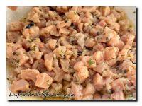 Tartare de saumon truffé