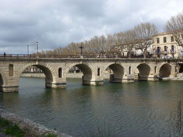 """Le Pont romain ou pont """"de Tibère"""""""