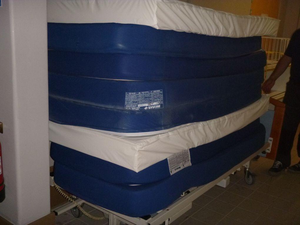 collecte et stockage lits medicalises