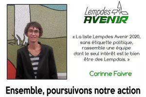 Portrait d'une candidate : Corinne Faivre