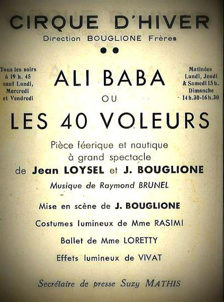 Et maintenant Ali baba ou les 40 voleurs au Cirque d'hiver!