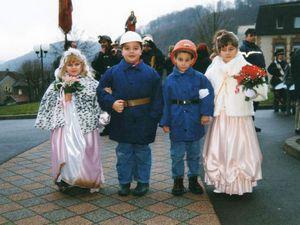 Sainte Barbe des enfants de mineurs en 1999 à Algrange.