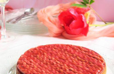Tarte Rhubarbe Framboise