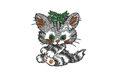 BRODERIE BEBE CHAT