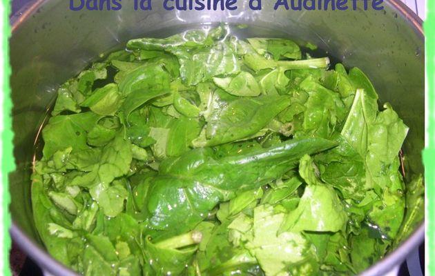 Losanges feuilletés aux épinards, ricotta et parmesan