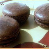 Macaron au chocolat -