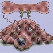 Dog's dream cross stitch free pattern