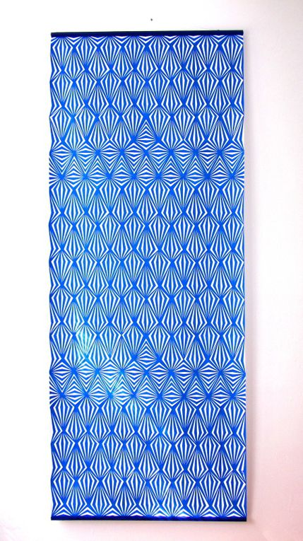Blue diamonds - Acrylic on canvas, 200*80 cm, 2017