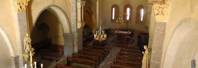 Le village de Landos (3) : L'intérieur de l'Église Saint-Félix / Balade en Haute-Loire
