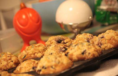 Muffins myrtilles/crumble : pour bien démarrer l'année!