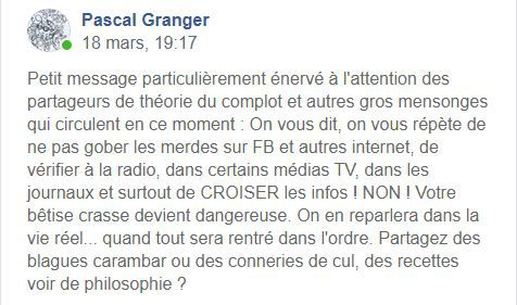 Pascal granger  : fake ou pas fake ! la est la question