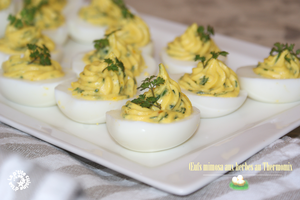 Oeufs mimosa aux herbes (Thermomix)