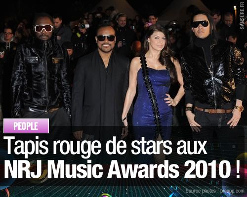 Tapis rouge de stars aux NRJ Music Awards 2010 !