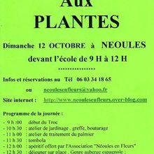 Local - Troc aux plantes de l'association Néoules en Fleurs - 12/10/2014