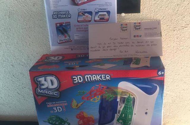 3D maker de Canal Toys les objets en 3 dimensions !