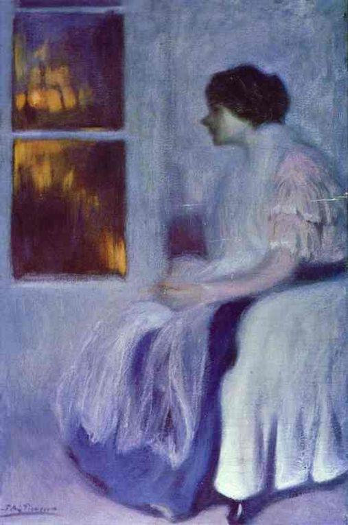 1881-1900 Premières oeuvres du peintre débutant Pablo Picasso.