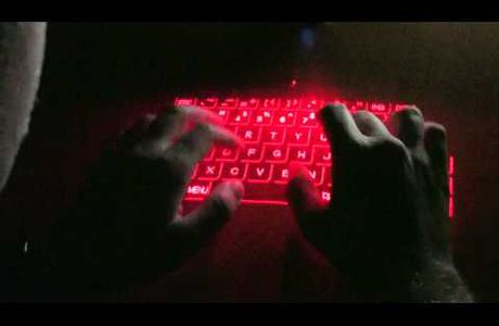 CUBE LASER VIRTUAL KEYBOARD pour IPAD et IPHONE