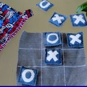 Creating my way to Success: Upcycled Denim Tic Tac Toe Tutorial - A Noughts and Crosses Game