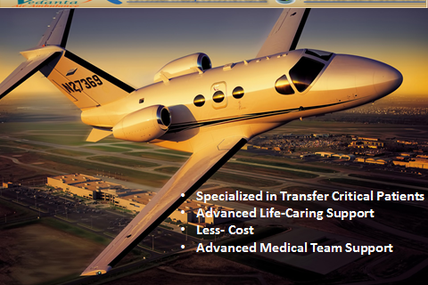 Most Rapid and Complete Bed to Bed Emergency Transfer Facility by Vedanta Air Ambulance
