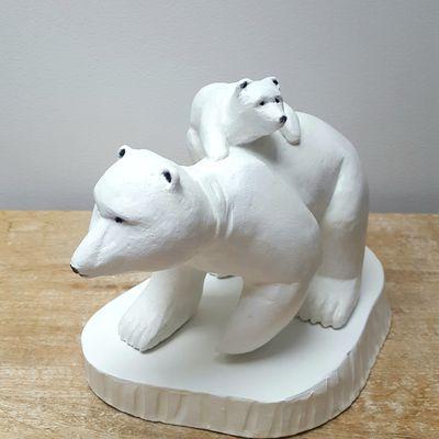 Sculpture les ours polaires