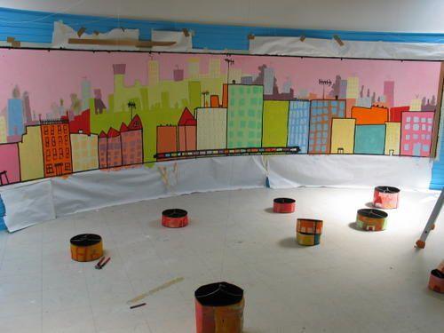 Peinture murale pour et par des enfants de LAON