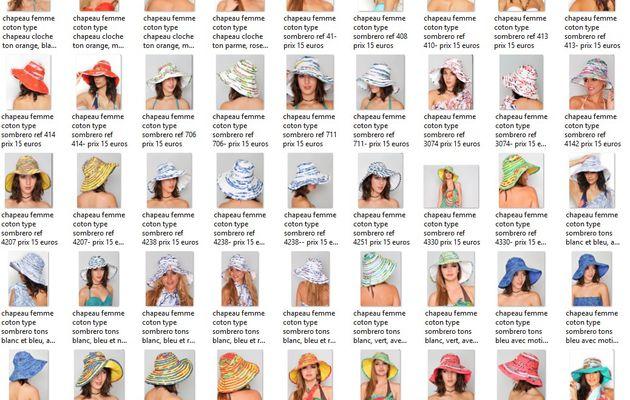 Bonjour, pour votre information, j'ai mis la boutique de l'association à jour des chapeaux de soleil femmes, capelines et bob, types chapeaux cloches, voici les photos et le lien vers la boutique.