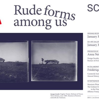 """EXHIBITION """"Rude forms among us"""""""