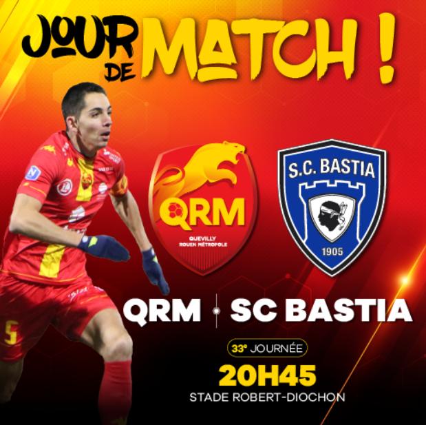 Quevilly-Rouen / Bastia : Sur quelle chaîne suivre la rencontre ce lundi ?