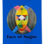 Face Of Magus Text Beach Sheet for Sale by Michael Bellon