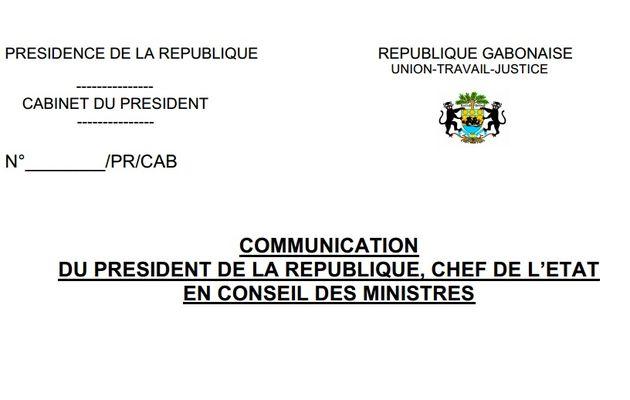 Conseil des Ministres : Communication du Président de la République