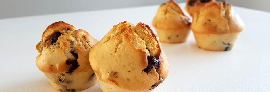 Muffins pépites chocolat et noisettes