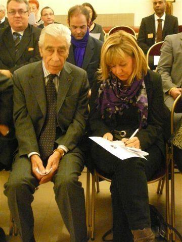 Remise des diplômes du 70è anniversaire de l'Appel du 18 juin 1940 le 20 novembre au sénat avec de nombreuses personnalités