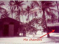 Retour sur le Chéliff - Escale à Fangataufa - Ma chambre - Moruroa en 1985 (photo Serge)