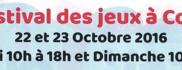 """Samedi 22 et dimanche 23 octobre - """"Festi'Jeux !"""" à Colmar"""