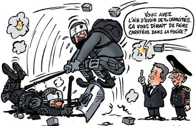 Blackcops et blackblocs