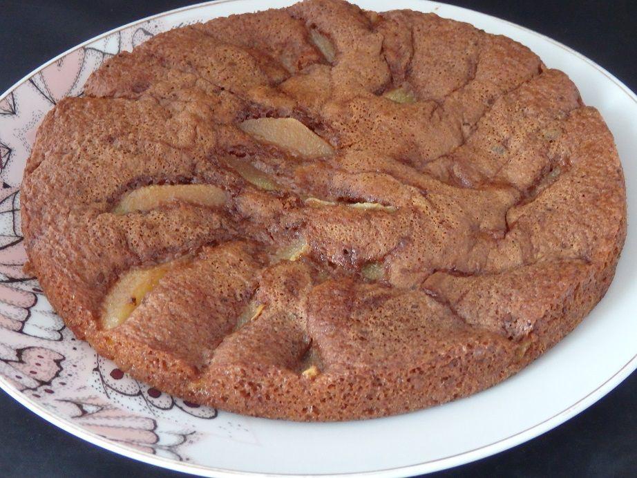 Gâteau 54321 chocolat poires