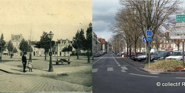 La place Luton, entre 1900 et 1905