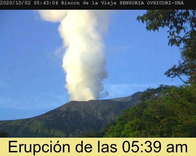 Rincon de La Vieja - 02.10.2020  / 05h43 - doc. Ovsicori